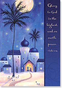 Christmas Card - Rejoicing with you in the miracle of Christmas; Luke 2:14 | Sarah Summers | 73260 | Leanin' Tree