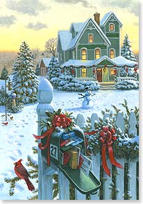 Christmas Card - Never a Christmas morning, never an old year ends... | Ruth Sanderson | 73269 | Leanin' Tree