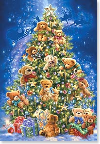 Christmas Card - Wishing you a beary Merry Christmas | Dona Gelsinger | 73274 | Leanin' Tree