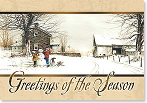 Christmas Card - Wishing you lots of old-fashioned cheer | John Rossini | 73283 | Leanin' Tree