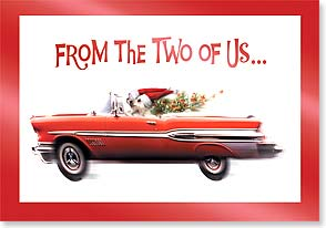 Christmas Card - Hope you cruise through a wonderful holiday season | Harvey Gariety | 73301 | Leanin' Tree