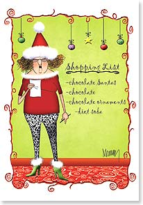 Christmas Card - Merry Chocolate! | Leslie Moak Murray | 73303 | Leanin' Tree
