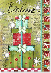 Christmas Card - Wishing you all the joys of a believing heart | Lisa Kaus | 73352 | Leanin' Tree