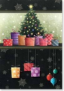 Christmas Card - May your Christmas come wrapped in love, tied with joy | Interlitho Licensing | 73355 | Leanin' Tree
