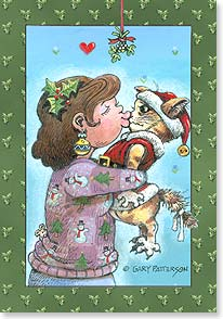 Christmas Card - Sending out Christmas wishes filled with hugs and kisses | Gary Patterson | 73363 | Leanin' Tree