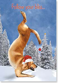 Holiday Card - Become one with the holidays | Yoga Dogs®/Yoga Cats | 73366 | Leanin' Tree