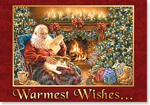 Christmas Card - Warmest wishes for a comfy, cozy Christmas! | Dona Gelsinger | 73371 | Leanin' Tree