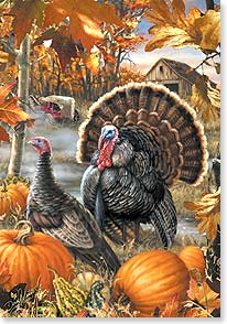 Thanksgiving Card - Wishing you the beauty and bounty of the season | Dona Gelsinger | 73375 | Leanin' Tree