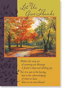 Thanksgiving Card - Wishing you every reason to give thanks this year. | Rosanne Kaloustian | 73376 | Leanin' Tree