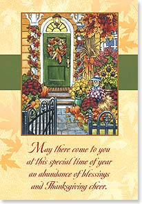 Thanksgiving Card - Warmest wishes from our house to yours | Nancy Wernersbach | 73377 | Leanin' Tree
