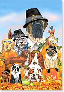 Thanksgiving Card - Have a doggone Happy Thanksgiving | Mary Lou Troutman | 73379 | Leanin' Tree