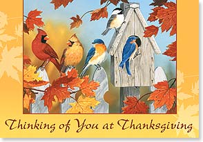Thanksgiving Card - May love and laughter brighten your heart and home | William Vanderdasson | 73383 | Leanin' Tree