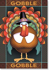 Thanksgiving Card - Hope your Thanksgiving is a fabulous feast of fun | Tammy Herriman | 73384 | Leanin' Tree