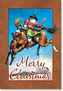 Christmas Card - Hope this finds you ridin' high with a twinkle in your eye! | Jack Sorenson | 73387 | Leanin' Tree