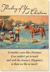 Christmas Card - Warmest Christmas greetings from our home to yours | Bettie Haller | 73389 | Leanin' Tree
