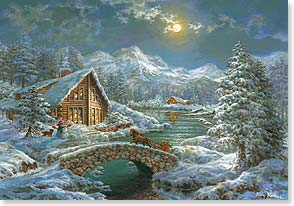 Holiday Card - In every home the lights of friendship glow | Nicky Boehme | 73391 | Leanin' Tree