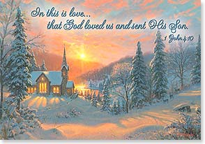 Christmas Card - May the spirit of His love guide us; I John 4:10 | Mark Keathley | 73412 | Leanin' Tree