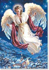 Christmas Card - May heavenly blessings fill your heart with God's love | Dona Gelsinger | 73413 | Leanin' Tree