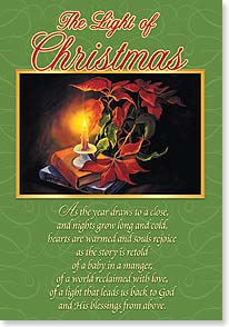 Christmas Card - A beautiful Christmasthat lights your heart with love | Stefan W. Baumann | 73415 | Leanin' Tree
