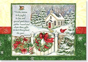 Christmas Card - Wishing you a blessed Christmas and joyous New Year | Susan Winget | 73422 | Leanin' Tree