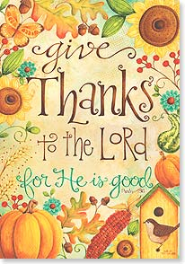 Thanksgiving Card - A blessed Thanksgiving w/ Psalm 136 | Karla Dornacher | 73610 | Leanin' Tree