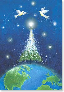Christmas Card - May peace touch all the world this Christmas. | Jan Pashley | 73634 | Leanin' Tree