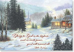 Christmas Card - Wishing you every blessing w/ Luke 2:14 | Vickie Wade | 73638 | Leanin' Tree