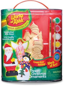 Kid Craft - Kids Crafts | Wood Painting Set - Ornament Kit - 7724 | Leanin' Tree