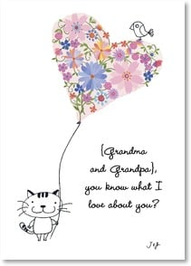 Grandparents Day Card - You know what I love about you?  Everything! | Jim Ishikawa | 7_2000185-P | Leanin' Tree