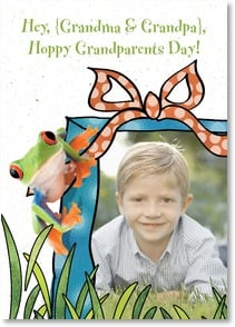 Grandparents Day Card - Hope your day is unfrogettably fun! | Age Fotostock | 7_2001299-P | Leanin' Tree