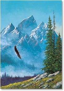 Blank Card - As Eagles Soar | Keith Fay | 7_2001441-P | Leanin' Tree
