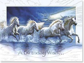 Birthday Card - Deluxe Embossed | A Birthday Wish for a Year Filled with... | John Rowe | 80621 | Leanin' Tree