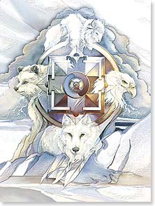 Birthday Card - Blessings From Four Directions | Jody Bergsma | 80631 | Leanin' Tree