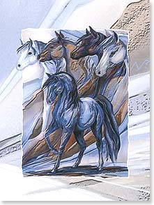 Birthday Card - Deluxe Embossed | Freedom to Dream, To Believe | Jody Bergsma | 80632 | Leanin' Tree