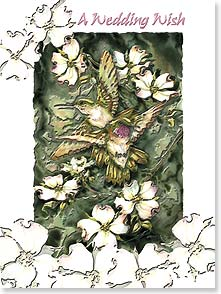 Wedding Card - Deluxe Embossed | Beautiful Wedding Wish | Jody Bergsma | 80634 | Leanin' Tree