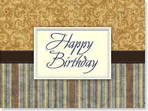 Birthday Card - Deluxe Embossed | Happy Birthday | Tim Coffey | 80636 | Leanin' Tree