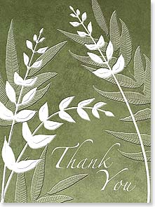 Thank You & Appreciation Card - Deluxe Embossed | Thank You, Blank Inside | LT Studio | 80639 | Leanin' Tree