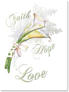 Wedding Card - Faith, Hope, Love | Gail Flores | 80816 | Leanin' Tree