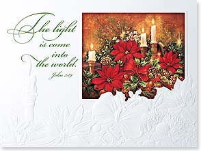 Christmas Card - A Heart Alight With Love; John 3:19 - 80855 | Leanin' Tree