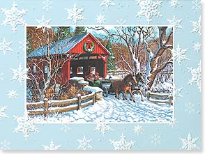 Christmas Card - It's Christmas time... Oh, what fun! | Lewis T. Johnson | 80860 | Leanin' Tree