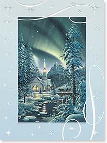 Christmas Card - A Blessed Chrismas and Happy New Year | Kim Norlien | 80868 | Leanin' Tree