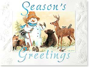 Holiday Card - May the season's joys gather around you! | Greg Giordano | 80876 | Leanin' Tree