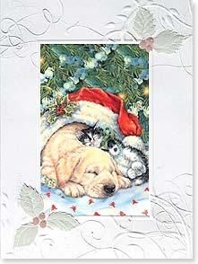 Christmas Card - Warm and Friendly Christmas Wishes | Donna Race | 80881 | Leanin' Tree