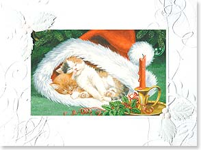 Christmas Card - Wishing you warmth, love, friendship...and long naps! | Persis Clayton Weirs | 80916 | Leanin' Tree