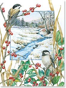 Christmas Card - Greetings of the Season with lots of Good Cheer! | Kate Beetle | 80935 | Leanin' Tree