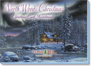 Boxed Christmas Assortment - Christmas Greeting Card Assortment | North Woods Christmas - 90236 | Leanin' Tree
