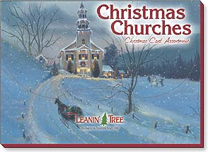 Boxed Christmas Assortment - Christmas Card Assortment | Christmas Churches - 90237 | Leanin' Tree