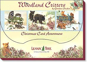 Boxed Christmas Assortment<BR/>2 ea. of 10 designs - Christmas Card Assortment | Woodland Critters - 90249 | Leanin' Tree