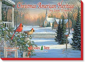 Boxed Christmas Assortment<BR/>2 ea. of 10 designs - Christmas American Heritage by Sam Timm - 90256 | Leanin' Tree