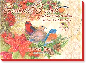 Boxed Christmas Assortment<BR/>2 ea. of 10 designs - Feathered Friends by Sherri Buck Baldwin - 90257 | Leanin' Tree
